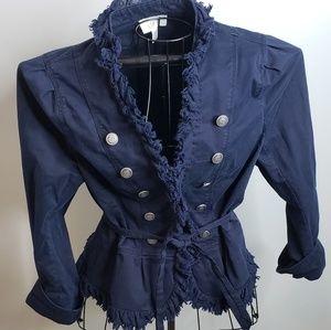 Loft brand navy military jacket